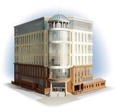 Commercieel centrum Gedetailleerde vector Royalty-vrije Stock Afbeeldingen