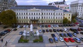 Commercieel Centrum in het historische centrum van Kiev ukraine stock footage