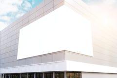 Commercieel centrum met gestemde hoekaffiche, vector illustratie