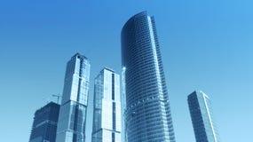 Commercieel centrum in Moskou, Rusland Stock Afbeeldingen