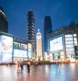 Commercieel centrum van Chongqing (Jiefangbei) bij nacht Stock Fotografie