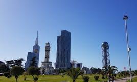 Commercieel centrum van de stad van Batumi Stock Afbeeldingen