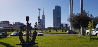 Commercieel centrum van de stad van Batumi Royalty-vrije Stock Foto's