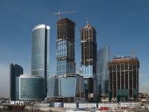 Commercieel centrumbouwterrein Stock Foto