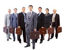 Commercieel die team van jonge bedrijfsmannen en bedrijfsvrouwen st wordt gevormd royalty-vrije stock afbeeldingen