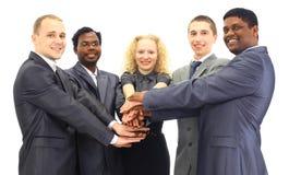 Commercieel geïsoleerdr team Royalty-vrije Stock Foto