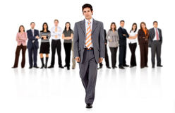 Commercieel mens en team Royalty-vrije Stock Afbeeldingen