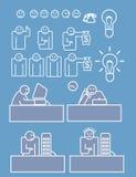 Commercieel personeel dat hard werkt vector illustratie