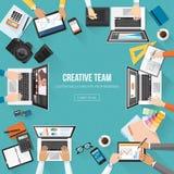 Commercieel team vector illustratie