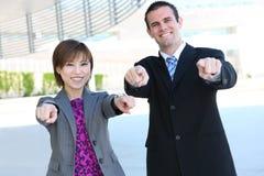 Commercieel Team bij de Bouw van het Bureau Stock Afbeeldingen