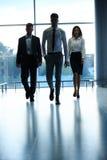 Commercieel Team buiten Bureau Mensen Royalty-vrije Stock Afbeeldingen