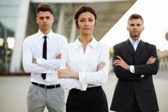 Commercieel Team buiten Bureau Mensen Royalty-vrije Stock Fotografie