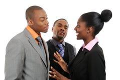 Commercieel team dat een bespreking heeft Stock Fotografie