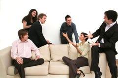 Commercieel Team dat - het Punt maakt Royalty-vrije Stock Afbeeldingen