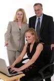 Commercieel Team dat samenwerkt Stock Afbeelding