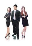 Commercieel team dat van bedrijfsmannen en vrouwen wordt gevormd stock fotografie