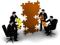 Commercieel team die een raadsel bouwen vector illustratie