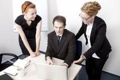 Commercieel team die een vergadering hebben Royalty-vrije Stock Afbeeldingen