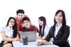 Commerciële geïsoleerdet teamvergadering - Royalty-vrije Stock Foto's
