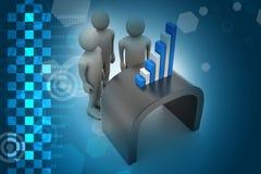 Commercieel team die financiële grafiek bekijken Royalty-vrije Stock Foto