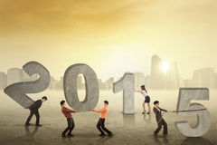 Commercieel team die nummer 2015 samenstellen royalty-vrije stock afbeelding