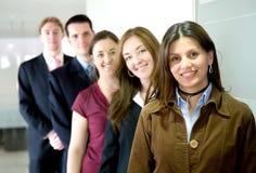 Commercieel team in een bureau Stock Foto's