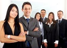 Commercieel team in een bureau Royalty-vrije Stock Foto