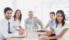 Commercieel team in een vergadering Royalty-vrije Stock Fotografie
