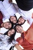 Commercieel team in een wirwar Royalty-vrije Stock Afbeelding