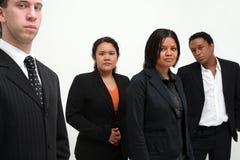 Commercieel Team - groep van vier Stock Afbeeldingen