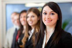 Commercieel team: groep zakenlui Stock Foto