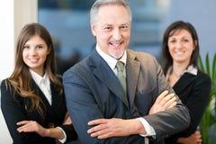 Commercieel team, groep zakenlui Stock Afbeelding