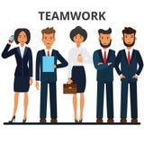 Commercieel team groepswerk vector illustratie