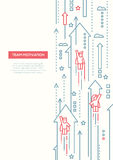 Commercieel Team - het malplaatje van de de brochureaffiche van het lijnontwerp A4 vector illustratie
