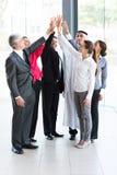 Commercieel team hoge vijf Royalty-vrije Stock Afbeelding