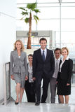 Commercieel team in luchthaven Royalty-vrije Stock Foto