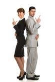 Commercieel team man en vrouwen het kijken royalty-vrije stock foto's