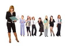 Commercieel team met teamleader Stock Foto