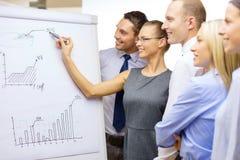 Commercieel team met tikraad die bespreking hebben Stock Foto