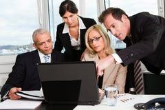 Commercieel team op de vergadering Royalty-vrije Stock Foto's