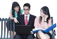 Commercieel team op een vergadering Royalty-vrije Stock Fotografie