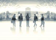 Commercieel team op horizon stock illustratie