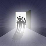 Commercieel Team op Open Deur vector illustratie