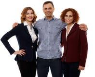 Commercieel team op wit Royalty-vrije Stock Fotografie