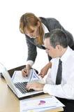 Commercieel team op witte achtergrond royalty-vrije stock afbeelding