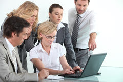 Commercieel team in opleiding Royalty-vrije Stock Afbeelding