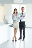 Commercieel team Portret van succesvolle bedrijfsmensen Zaken Stock Afbeelding