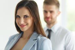 Commercieel team Portret van succesvolle bedrijfsmensen Zaken Royalty-vrije Stock Afbeelding