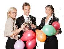 Commercieel team selebrating succes Stock Foto's