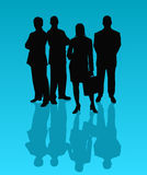 Commercieel Team - vector Royalty-vrije Stock Foto's